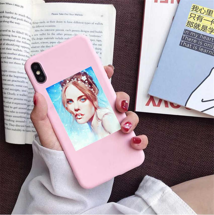 IU Lee Ji-eun Kpop Mädchen TPU Fall telefon Für iphone X 7 XS XR XSMAX 11 11Pro 11 proMax Kpop song Blueming fall Abdeckung