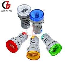 AC 60-500V LED Digital Voltmetro 110V 220V Tester di Tensione 22 millimetri Rotonda Pilot Auto Moto indicatore di Capacità della batteria Volt Tester