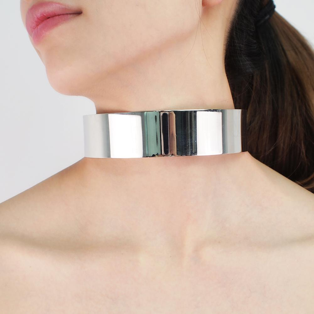 Alloy Torque Choker Necklace For Women Chokers Big Statement Collar Maxi Necklace African Jewelry Accessories UKEN