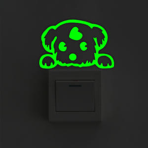Decoration Sticker Glowing Cartoon Switch 1pc Fluorescent