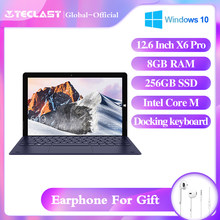 Teclast X6 Pro Tablet Netbook Win10 Touch Screen 2880*1920 FHD IPS Intel Core M 8GB RAM 256GB SSD 12.6 Cal type-c USB3.0(China)