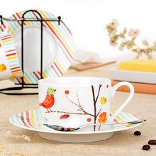 Britânico tarde xícara de chá ouro guarnição simples teaware europeu ins tribunal xícara de café, prato e colher conjuntos