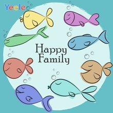 Yeele Birthday Family Party Photocall Undersea Fish Photography Backdrops Personalized Photographic Background For Photo Studio allenjoy photographic background european royal family living room backdrops princess boy studio fabric 7x5ft