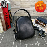 Guangzhou New Style Genuine Leather Mini Soft Leather Phone Bag Full grain Leather Korean style Multi part Bag Shoulder L Bag Sh
