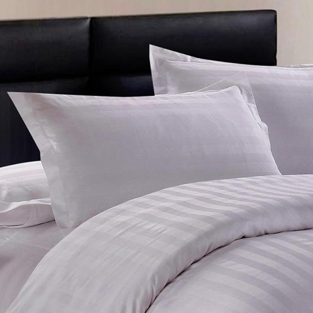 50*80/58*88cm Hotel Supplies Home Bedding Cotton Pure White Encryption Pillowcase Satin Solid Soft Pillow Case HOt Dropshipping