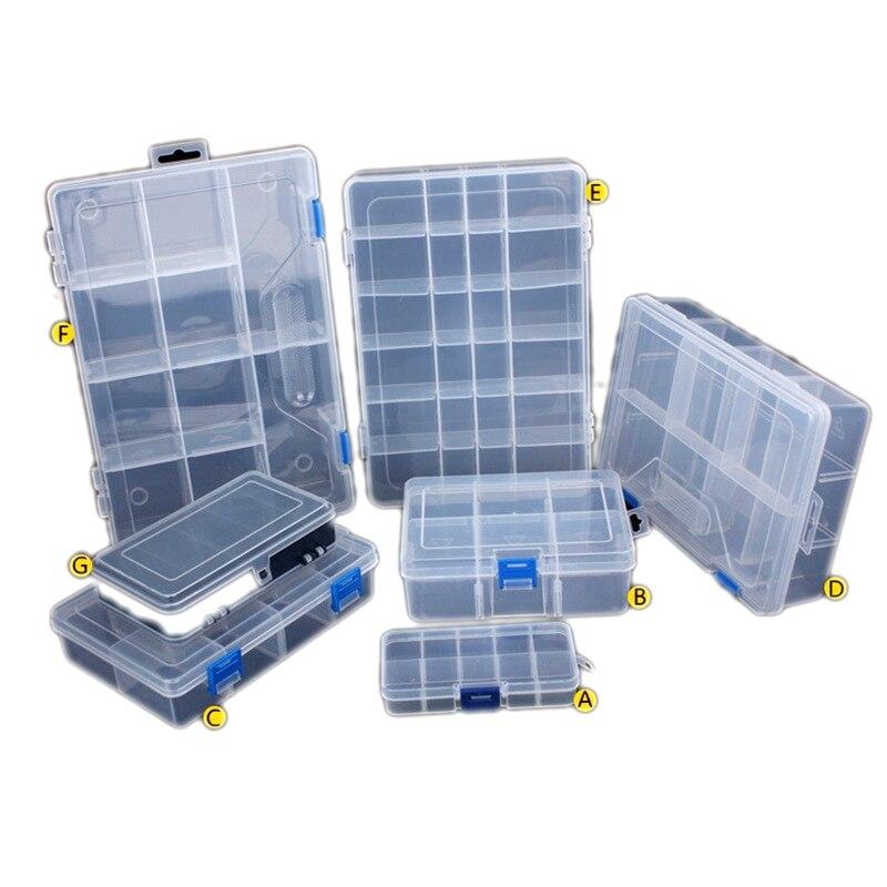 7 taille écrous Bits cellules boîte à outils Portable bijoux conteneur boucles d'oreilles anneau électronique vis autoperçante perles composant stockage boîte à outils