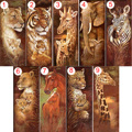 50x25cm Animal Diamond Painting Tiger Lion 5D DIY Rhinestones Diamond Embroidery 3D Cross Stitch Home Wall Decoration Gift