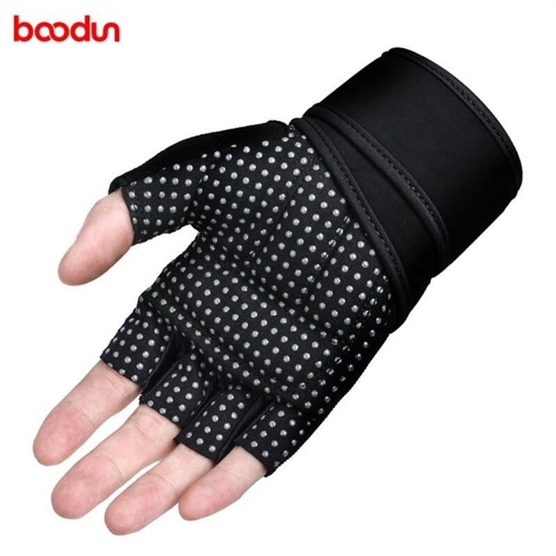 Boodun S M L Men Women Gym Gloves Half Finger Fitness Weight Lifting Gloves Workout Training