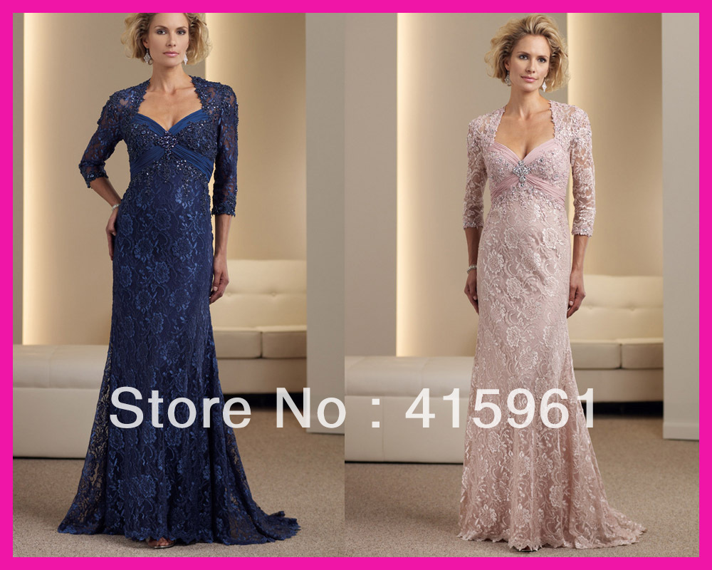 Luxurious Royal Blue Lace Farsali Floor Length Vestido De Madrinha 2019 Mother Of The Bride Dresses With Jacket For Weddings