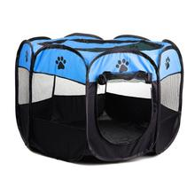 Oxford Foldable Waterproof Pet Tent Dog Cat Fence House Cage Puppy Kennel Camping Playing Bed Supplies