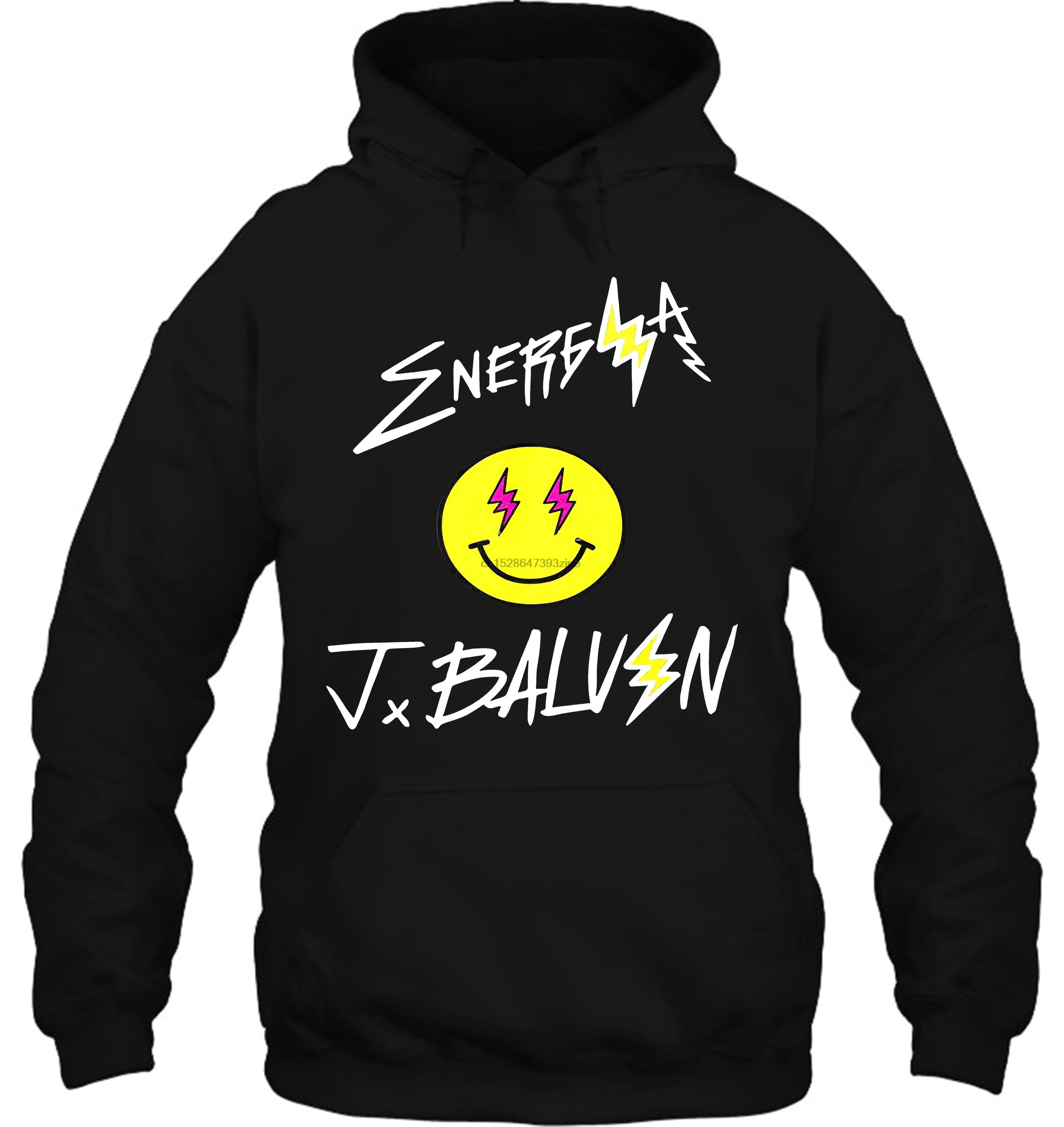Design J Balvin Energia Reggaeton Broadcloth Crew Neck For Men Men Women Streetwear Hoodies Sweatshirts