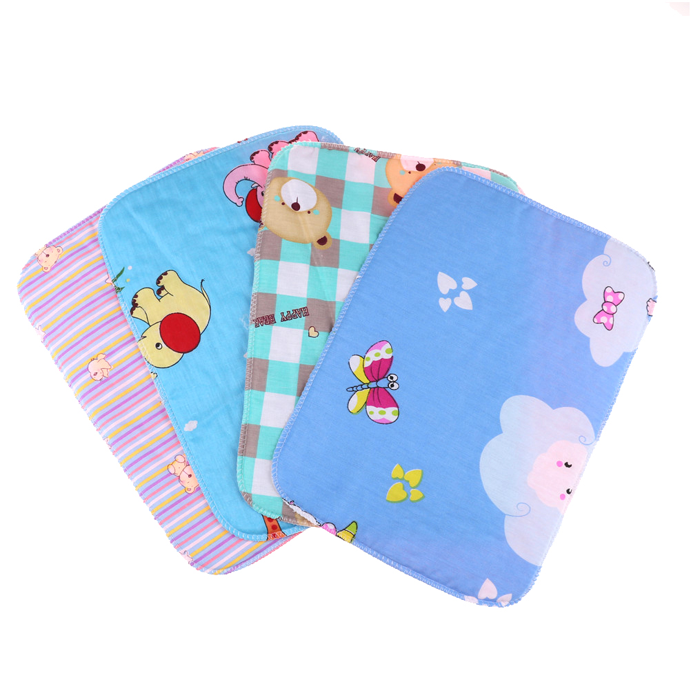 1PCS 35cm*25cm Baby Infant Diaper Nappy Urine Mat Kid Cotton Waterproof Breathable Bedding Changing Cover Pad