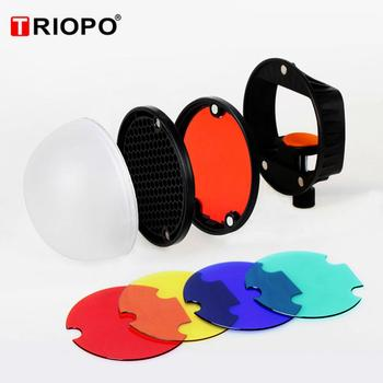 TRIOPO TR-07 MagDome Color Filter Reflector Honeycomb Diffuser Ball Photo Accessories Kits For GODOX YONGNUO Flash Replace