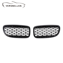 A Pair Front Kidney Grille For BMW 3 Series E90 2009-2012 Diamond Grille Meteor Style Front Car Grill Car Styling 3 pair front