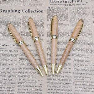 Image 5 - (12 Teile/los) luxus Bambus Stifte für Schreiben Werkzeug Schreibwaren Schreibwaren Schule Büro Zubehör 0,5mm Schwarz Tinte Kugelschreiber