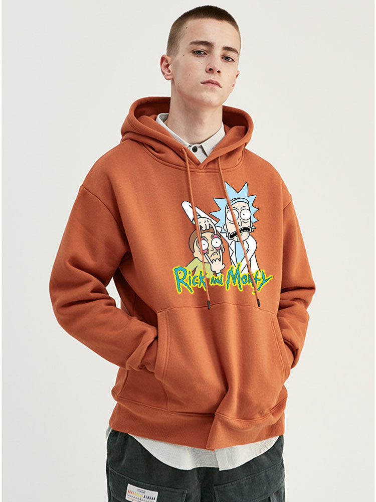 2019 New Brand Rick Morty Hooded Men Women Hoodies Sweatshirt Men Skateboards Male Rick Morty Cotton Hooded Sweatshirt
