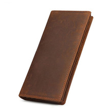 MAHEU Mens Genuine Leather Bifold Wallet Credit Card Long Pu