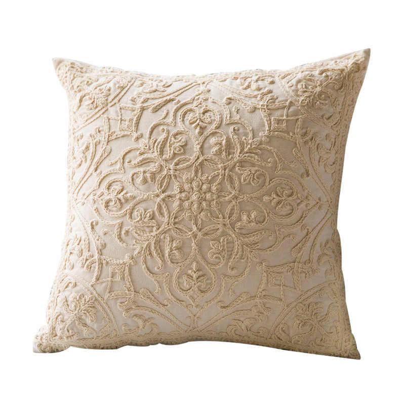 2020 New Cushion Covers 100% Cotton Linen Hand-woven Thread Pillow Covers Geometry Bohemia Style Pillowcase Home Decor 50x 50cm