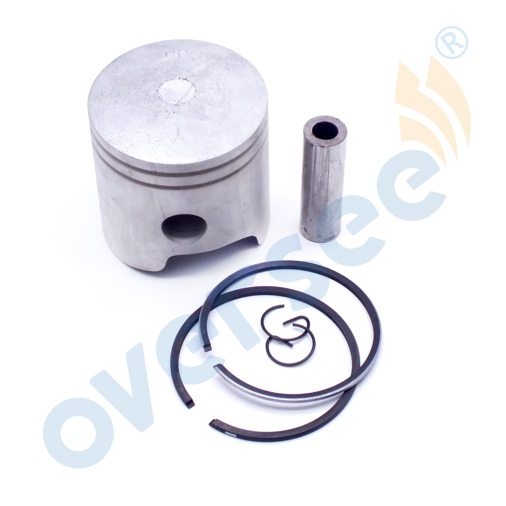 6E7-11631-00 Piston Kit Std With Piston Ring For Yamaha 2T Outboard Parts 9.9 15HP 682 684 63V 63W Series D56mm 6E7-11631 Parsun