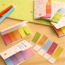 1pack/lot Creative Colours Rainbow Memo Notes Sticky Escolar School Supply Bookmark Notepad Label