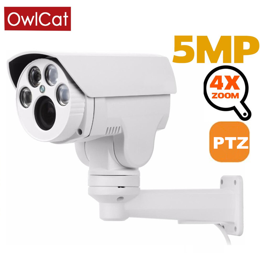 Owlcat 1080P Bullet Outdoor IP Camera PTZ Rotating 4X/ 10X Auto Zoom Varifocal Lens 2MP 5MP Night Motion Onvif Phone Remote View image