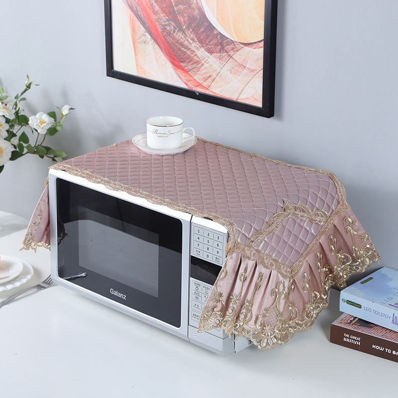 Beautiful Fashion Microwave Oven Dust Cover Quilting Cotton Fabric Oven Cover Microwave Oven Cover