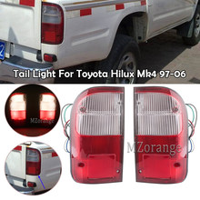 Mzorange luz da cauda para toyota hilux mk4 1997 1998 1999 2000 2001 2002 2003 2004-2006 substituição do lado direito esquerdo do freio da lâmpada do carro