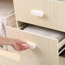 Door Handle 2pcs/lot Paste Open Sliding Handles for Interior Doors Window Cabinet Drawer Wardrobe Self-adhesive