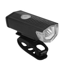 300lm Bicycle Head LED Lamp Flashlight USB Charging Handlebar Front Torch Light(China)