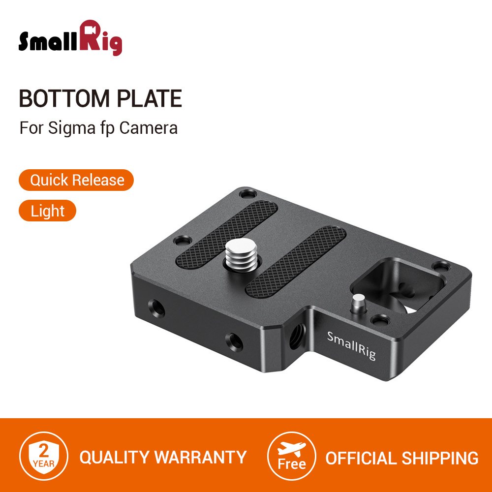 SmallRig Bottom Plate for Sigma fp Camera Quick Release Plate To Attach Arca or Manfrotto Camera Plate- 2673