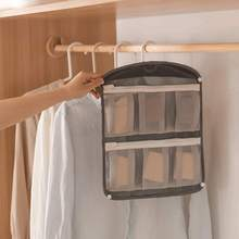 Household Socks Transparent Underwear Storage Grid Clothing Hanging Bag Fabric Wall Classification