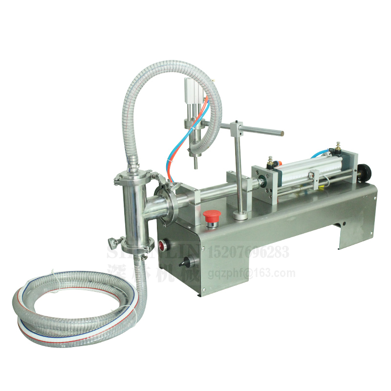Купить с кэшбэком Filling machine liquid filler pneumatic 0.6MPa 100/300/500ml water bottle filling machine sauce packaging beverage filler