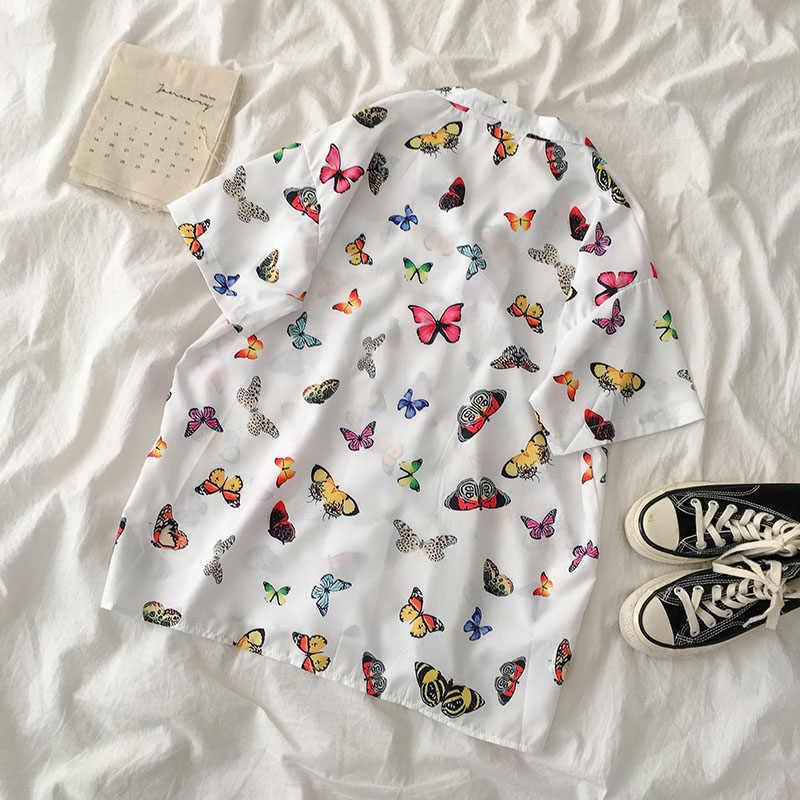 Gagarich セーラームーンピンク半袖シャツ原宿 tシャツの女性の服 2020 コスプレトップかわいいかわいい蝶ブラウス