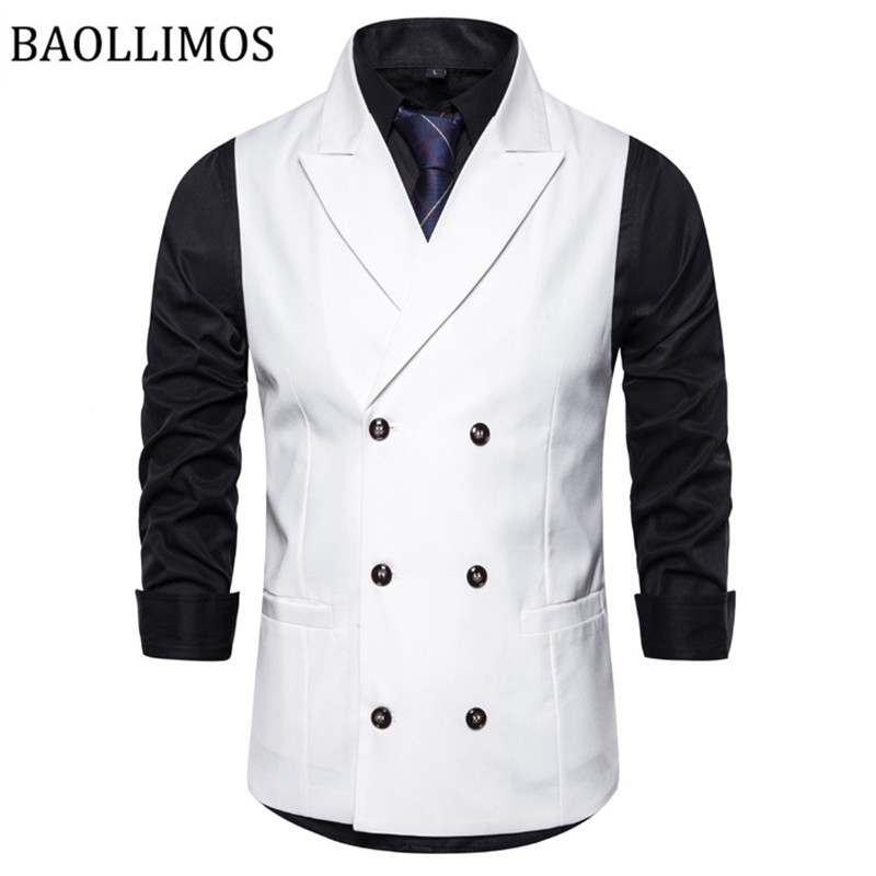 British Style Men Candy Color Cotton Slim Suit Vest Men Casual Solid Color Single-breasted Business Vest For Male