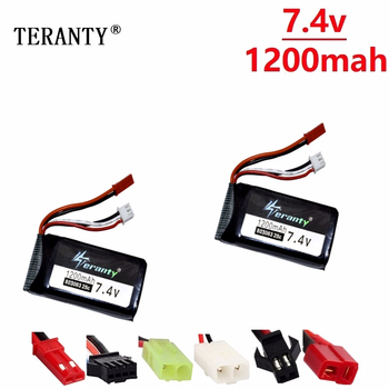 Original For Yizhan Tarantula X6 H16 7.4v 1200mAh Lipo Battery For RC Drone Quadcopter 2S 7.4V battery for WLtoys V666 V262 V323 image
