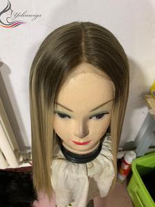 Blonde Farbe Dunkle Wurzel Spitze Top Perücken Neue Ankunft Blonde Europäischen Haar Perücke Jüdische Perücke Kosher Perücken