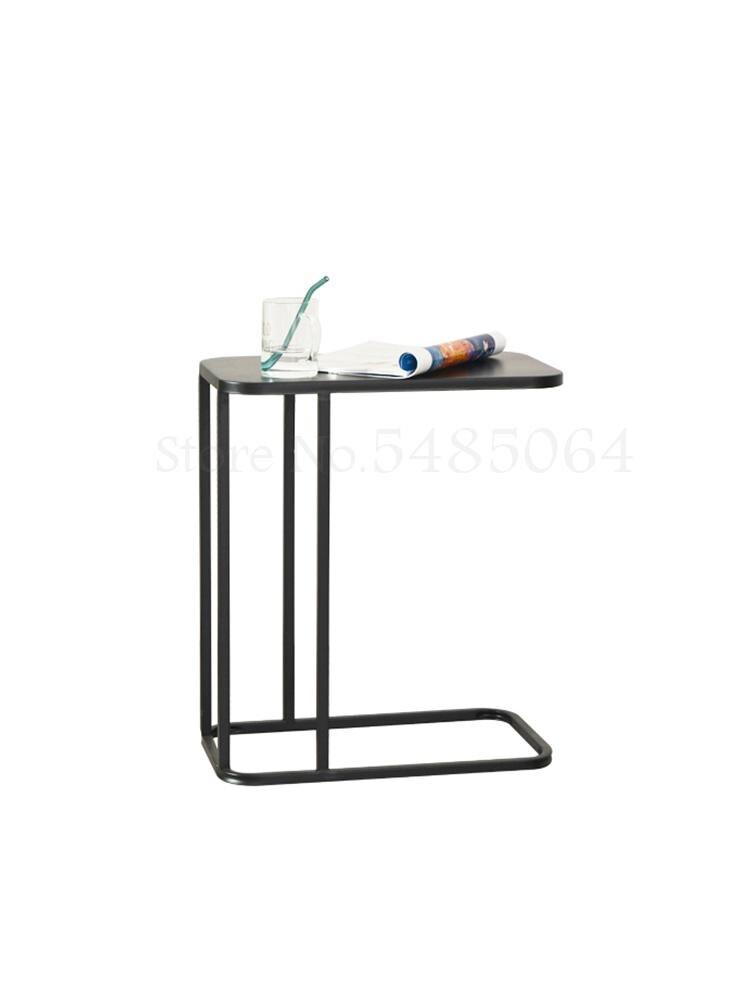 Скандинавский прикроватный столик для дивана, мобильный угловой столик, Маленький журнальный столик для спальни, маленький креативный при...