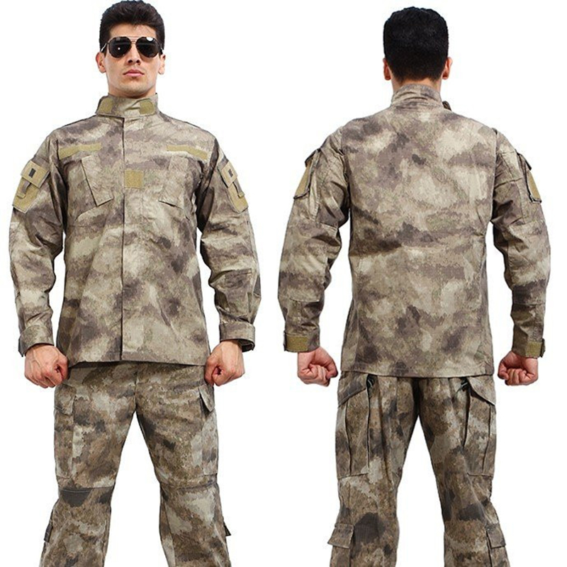 Army Tactical German Flecktarn Uniform Combat Airsoft Shirt + Pants Camouflage Suit Special Forces Hunting Uniforms for Men's