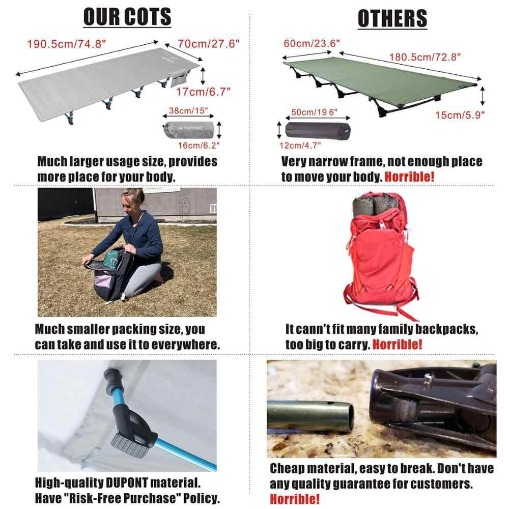 Hitorhike, cuna de Camping, cama plegable compacta para exteriores, mochila, cama de Camping, tienda de campaña plegable ultraligera