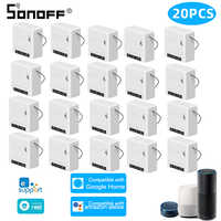 20Pcs SONOFF Mini DIY Two Way Smart Switch Automation Voice Remote Control Wifi Switch Relay Module Work With Alexa Google Home