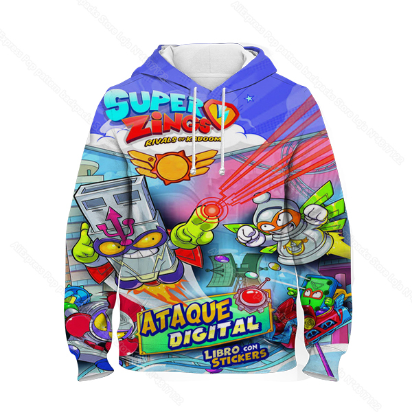 Kids 3D Print Super Zings Hoodie Autumn Winter Children Superzings 6 Series Sweatshirt Sudadera Boy Girl Cartoon Anime Pullover 37