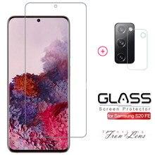 2 em 1 vidro temperado para samsung galaxy s20 fe fã edição s20fe 5g 2020 película protetora para galaxy s20fe protetor de tela