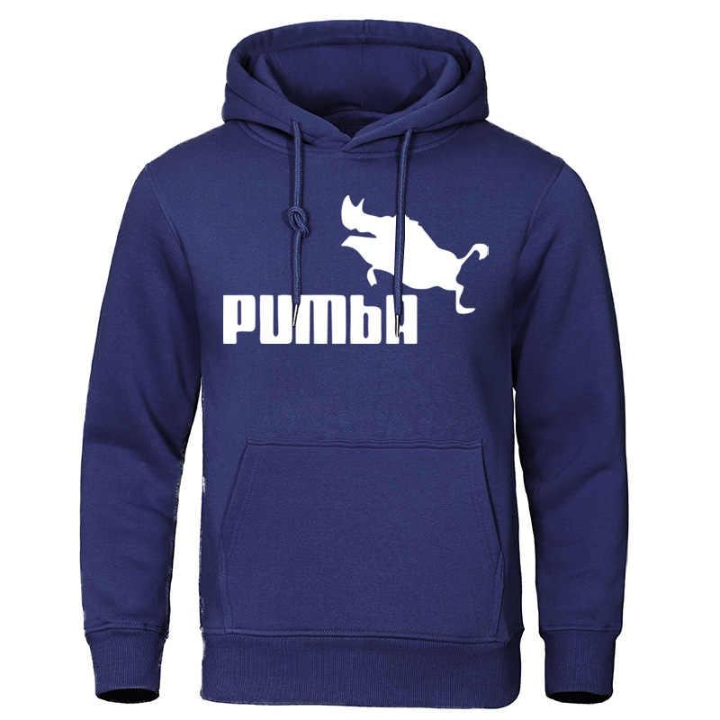 Marke männer Hoodies 2019 Herbst Winter Kostüm Homme Pumba Sweatshirts Lustige Männliche Kleidung Baumwolle Hip Hop Fashion Tops Pullover