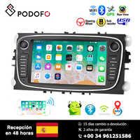 Lecteur multimédia de voiture Podofo 7 ''Android 8.1 pour la mise au point Mondeo C MAX S MAX Galaxy II Kuga Support GPS WIFI Bluetooth lien miroir