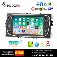 Podofo 7'' Android 8.1 Car Multimedia Player for Focus Mondeo C MAX S MAX Galaxy II Kuga Support GPS WIFI Bluetooth Mirror link