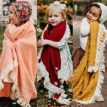 Emmaaby/ хлопковое мягкое детское одеяло для пеленания девочек, спальный мешок