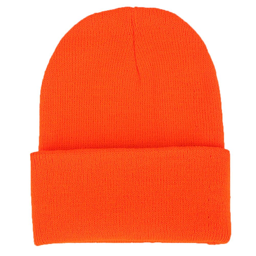 Winter Fall Fashion Women Solid Color Cuffed Knitted Hat Student Beanie Cap Gift Hats Beanie Cuffed Hat Hair Accessories Beanies