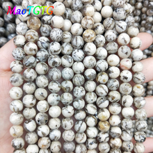 Natural Feldspar Round Beads For Jewelry Making Bracelet Necklace 6/8/10/12mm Stone Loose Wholesale