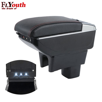 Armrest Box For Suzuki Swift 2005-2018 USB Charging LED Light Car Arm Rest Rotatable Centre Console Storage Box Car Styling