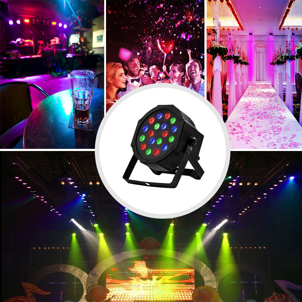 Disco Light Color DMX Voice Control Self-Propelled Laser Staining Stage Lights KTV Christmas 18LED (6)